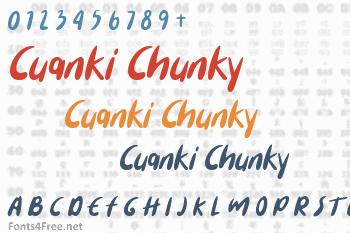Cuanki Chunky Font