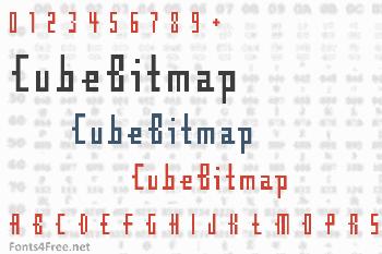 CubeBitmap Font