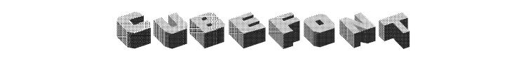 Cubefont Font Preview