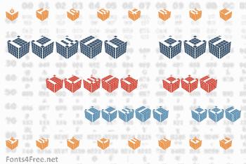 Cubic Dot Font