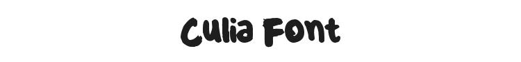 Culia Font Preview