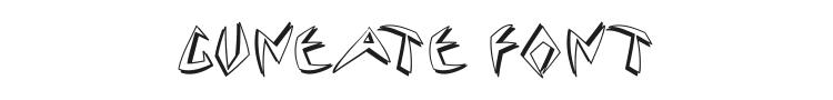 Cuneate Font