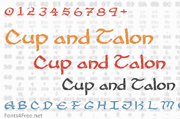 Cup and Talon Font
