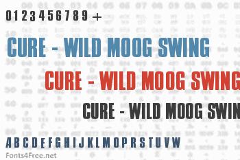 Cure - Wild Moog Swing Font