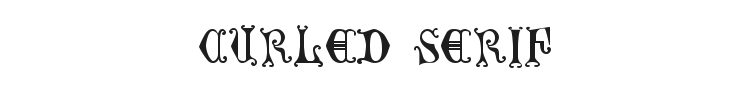 Curled Serif Font Preview