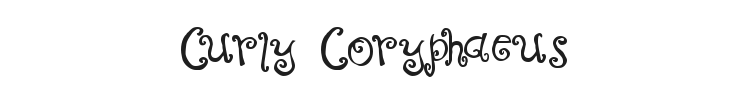 Curly Coryphaeus Font Preview