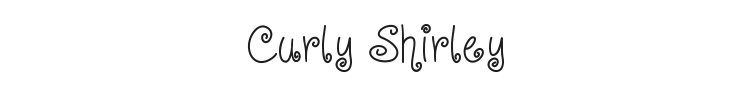 Curly Shirley Font Preview
