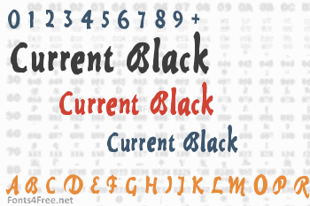 Current Black Font