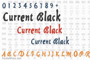 Current Black Font