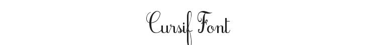 Cursif Font Preview