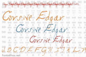 Cursive Edgar Font