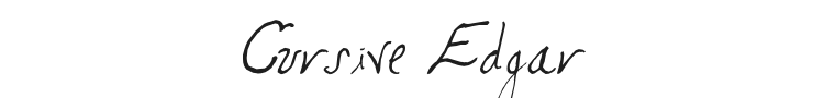Cursive Edgar Font Preview