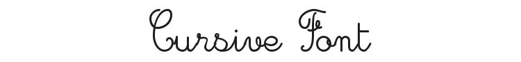 Cursive Font Preview