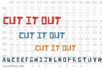 Cut It Out Font