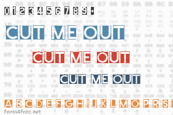 Cut Me Out Font