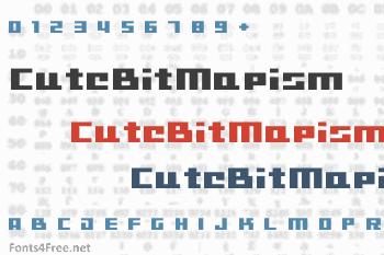 CuteBitMapism Font