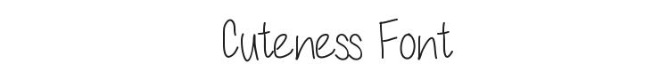 Cuteness Font