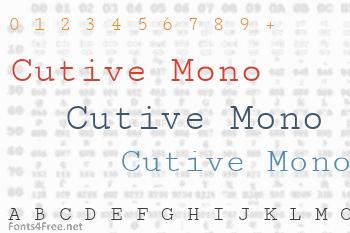 Cutive Mono Font
