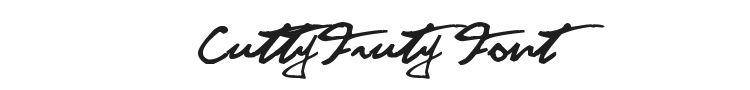 CuttyFruty Font Preview