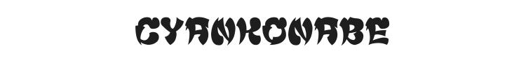 Cyankonabe Font Preview