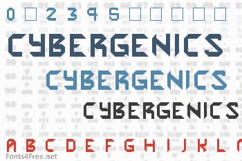 Cybergenics Font