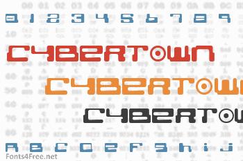 Cybertown Subterranean Font