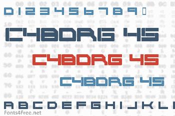 Cyborg 45 Font