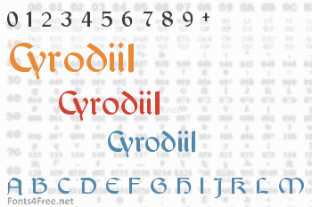 Cyrodiil Font