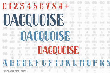 Dacquoise Font