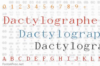 Dactylographe Font