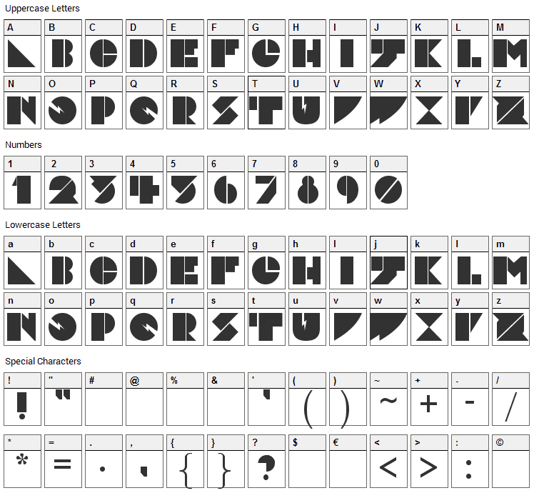 Daddy Dont Disco Font Character Map