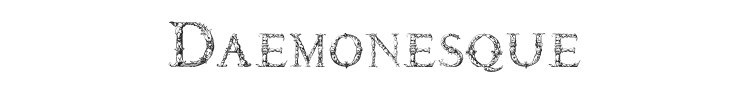 Daemonesque Font Preview