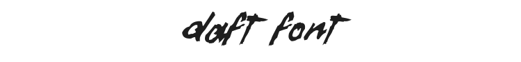 Daft Font Preview