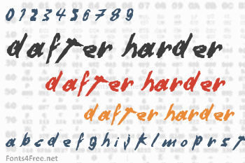 Dafter Harder Better Stronger Font