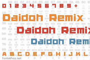 Daidoh Remix Font