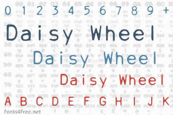 Daisy Wheel Font