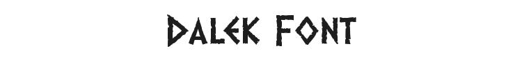 Dalek Font Preview
