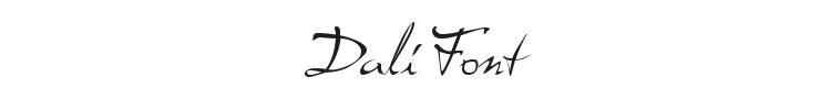 Dali Font Preview