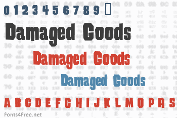 Damaged Goods Font