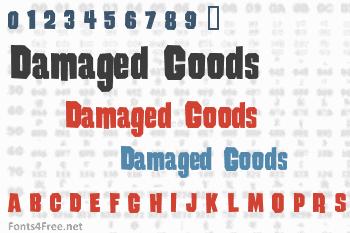 Damaged Goods Font