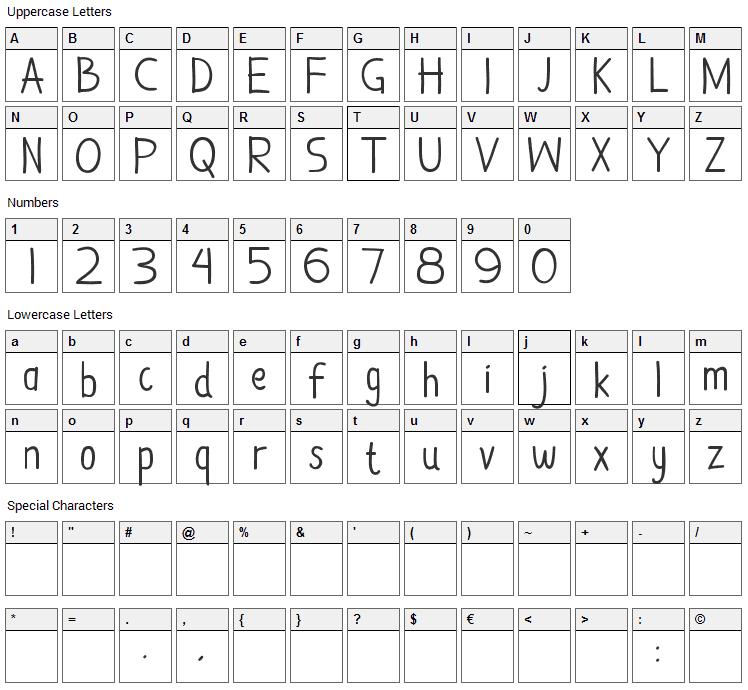Damai Kpk Polri Font Character Map
