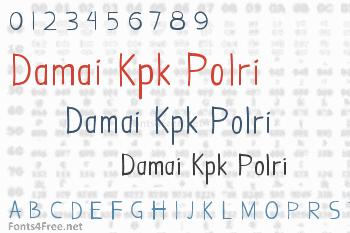 Damai Kpk Polri Font