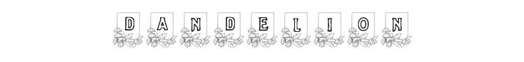 Dandelion Font Preview