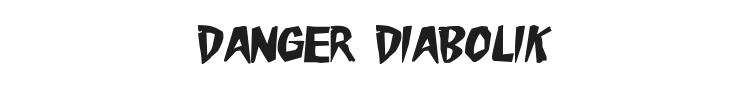 Danger Diabolik Font Preview