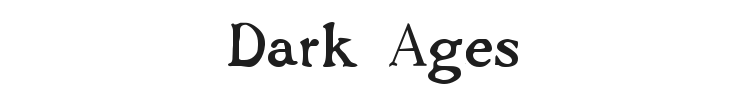 Dark Ages Font Preview