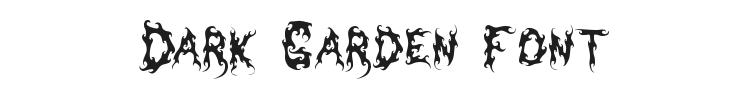 Dark Garden Font Preview
