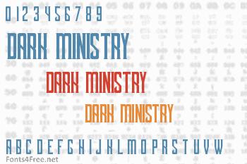 Dark Ministry Font