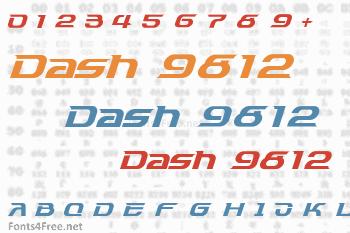 Dash 9812 Font