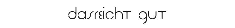 DasReicht Gut Font Preview