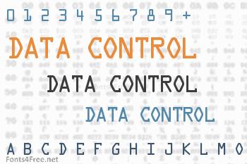 Data Control Font